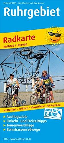 Ruhrgebiet: Radkarte mit Ausflugszielen, Einkehr- & Freizeittipps, wetterfest, reissfest, abwischbar, GPS-genau. 1:100000 (Radkarte / RK)
