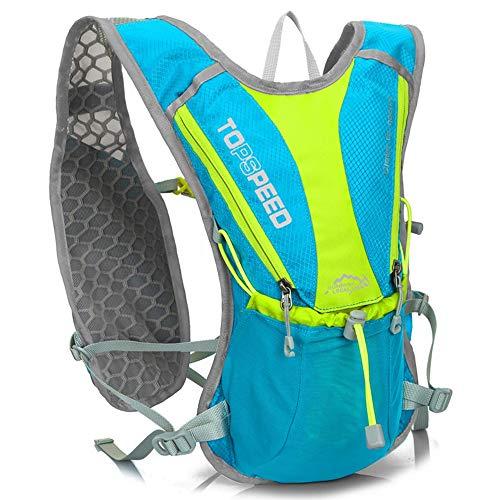 JIAGU Guadagna Daypack Zaino idratazione Leggero e Traspirante Zaino da Ciclismo Zaino Bici Adatto for Arrampicata e Trekking 5L Pacchetto di idratazione (Color : Light Blue, Size : 41 * 10 * 5m)