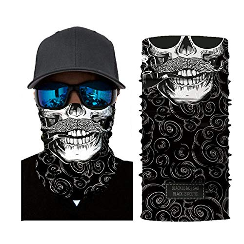 FACQ Chapeau Masque De Moto Biker Visage Bouclier Sport Crâne Masque De Visage Balaclava Casquette De Moto Ski Bandanas