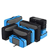 PRO Packing Cubes for Travel | 10 Piece Luggage Organizer Set | Premium Quality Travel Cubes for Packing Suitcase, Carry-on, Bags and Backpack - Graphite-Sky Blue