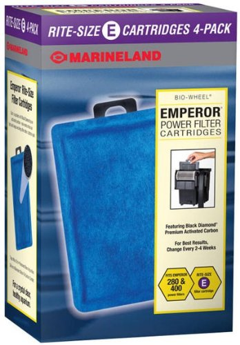 Marineland Emperor Power BIO-Wheel Filter Replacement Filter Cartridges Size E, 4- Pack