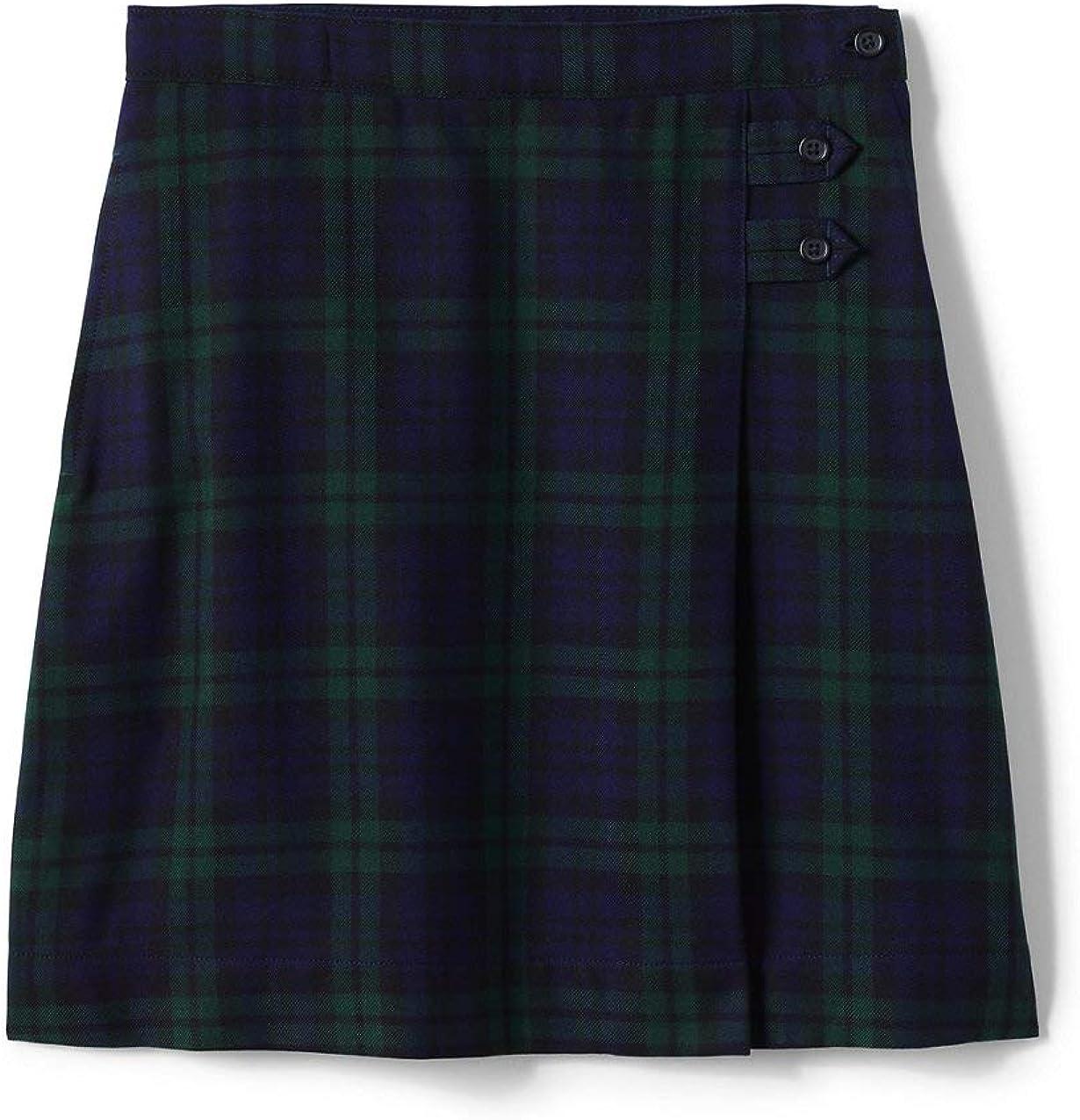 Lands' End Uniform Plaid Aline Skirt Navy Classic The Ranking TOP13 Below Knee Large-scale sale