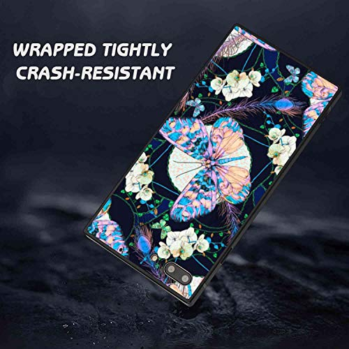 Square Phone Case Fit for iPhone 7 Plus, iPhone 8 Plus Butterfly Soft TPU Fashion Bumper Shockproof Protective Cover