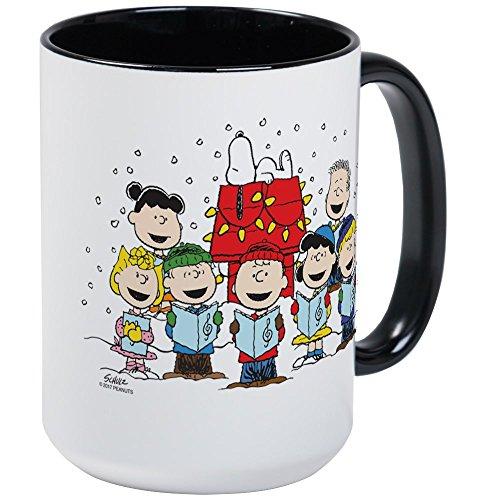 CafePress Peanuts Gang Christmas Coffee Mug, Large 15 oz. White Coffee Cup