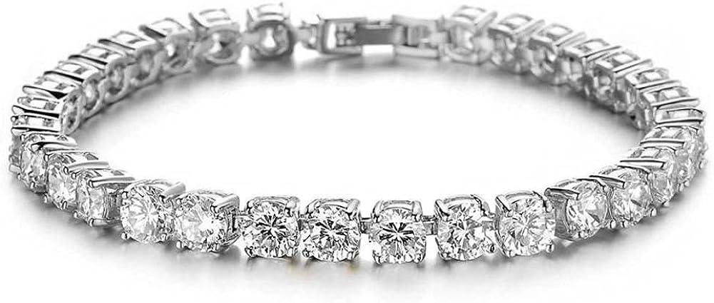 Tennis Bracelets for Women Men Girls White Gold Plated Cubic Zirconia Classic Bracelet Charms Crystal Bangles Bracelets Jewelry
