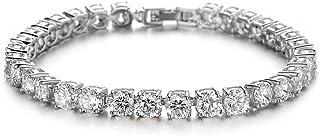Tennis Bracelets for Women Men Girls White Gold Plated Cubic Zirconia Classic Bracelet Charms Crystal Bangles Bracelets Je...