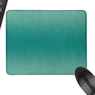 Personalized Mouse Pad Ombre Ocean Sea Marine Life Space Waves Inspired Teal Colored Design Digital Print Image Easy to Operate,15.7