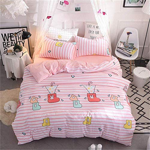 Dmygo Bedding duvet cover, 4 piece flat cotton easy to maintain anti-allergic soft & smooth duvet cover x200x230cm