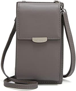 Small Leather Shoulder Bag, Crossbody Bag CellPhone Wallet Purse Lightweight Crossbody Handbags for Women