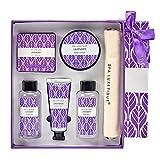 Bad Geschenket für Frauen, SPA LUXETIQUE Pflegeset Lavendel Duft mit 6 Produkten in Reisegröße -...