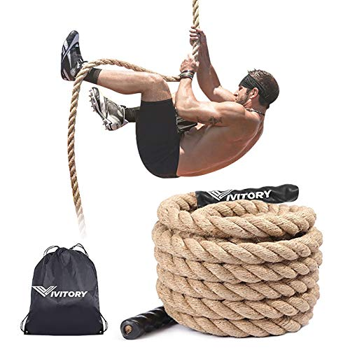 Vivitory Gym Fitness Training Climbing Ropes, Workout Gym Climbing Rope, Home Training and Fitness Workouts,1.5'' in Diameter, Available 10, 15, 25, 30 Ft (10 ft)