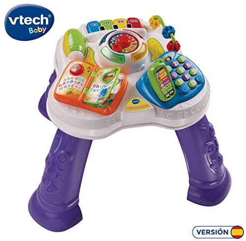 VTech Baby - Mesita parlanchina 2 en 1, mesa de actividades infantil...