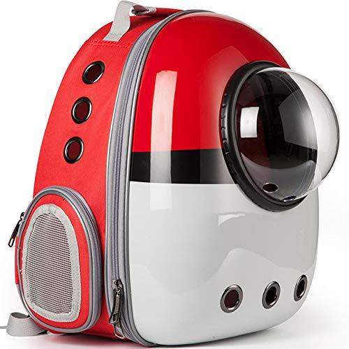 IANSISI Astronauta pequeño Gato cápsula Mascota Viaje Perro Mochila Perro Portador Exterior Impermeable Bolsa de Burbujas Transpirable