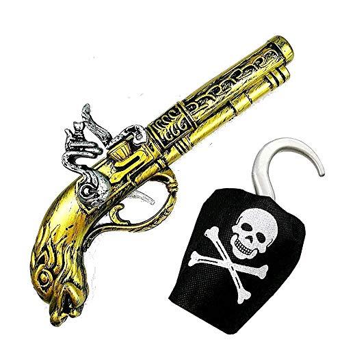 Accessori capitano uncino - Bambino - set Pirata - pistola e uncino - Idea regalo per natale e compleanno