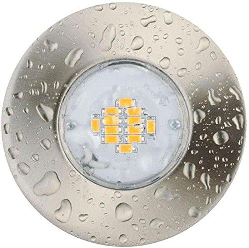 Light Topps lt15417 LED 1 x 6,5 W 380LM, rond, rigide, IP65, fer brossé, Spot Plafond Spot encastrable Leuchten