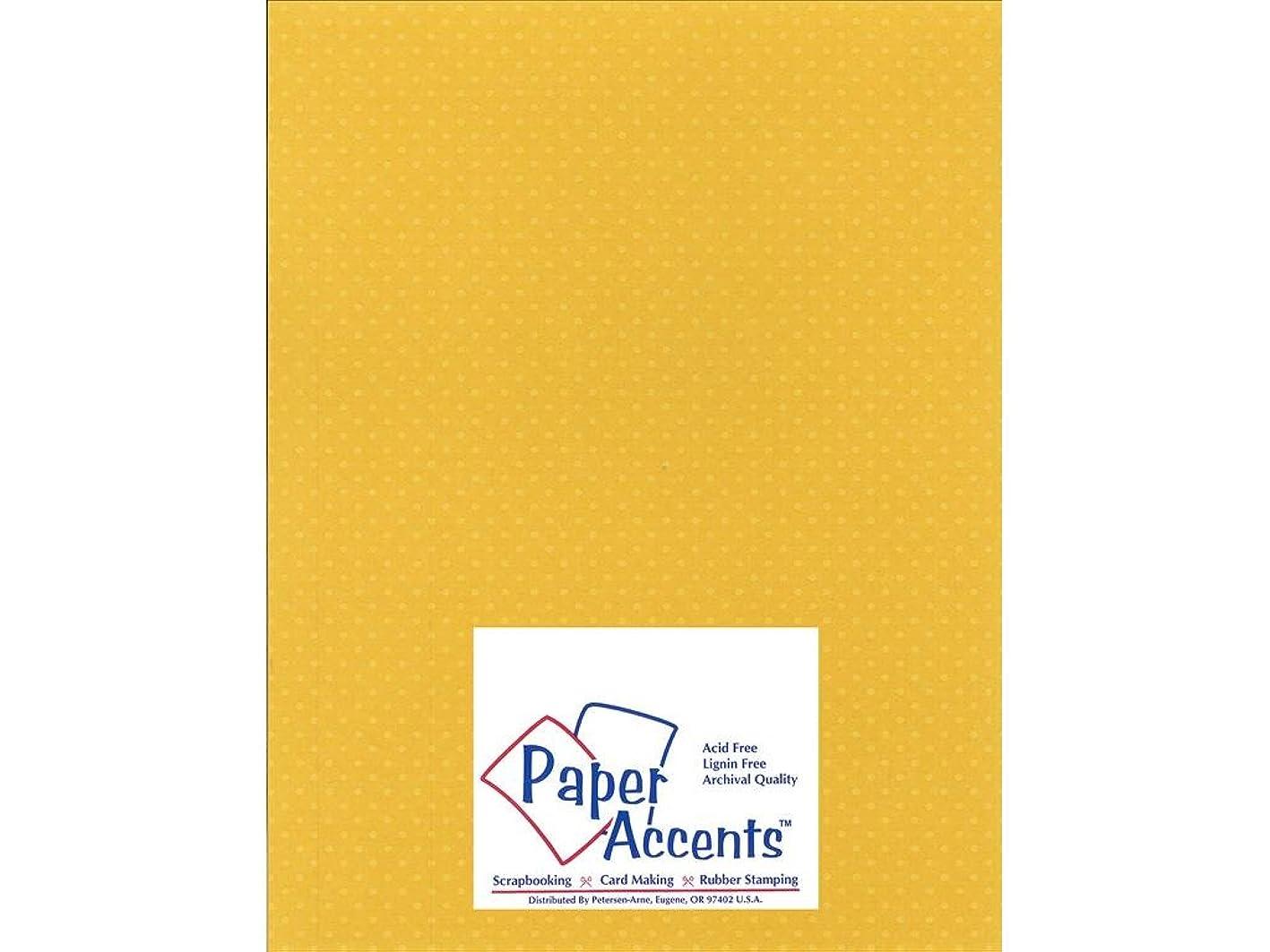 Accent Design Paper Accents Cdstk Mini Dots 8.5x11 80# Daffodil fwdeholtfum874
