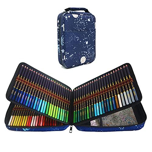 120 Matite Colorate Professionali per Adulti e Bambini, Serie di matite con mina morbida per artisti dai colori vivaci, Ideali per Colorare, Mandala, Disegnare, Astuccio Cancelleria Scuola