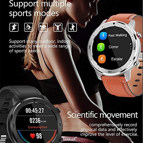 DT78 1.3 Pulgadas IP68 Reloj Inteligente Impermeable Hombre A Prueba de Agua Nadar Smart Watch Smart Watch Ladies Rastro cardíaco Monitor Reloj,B