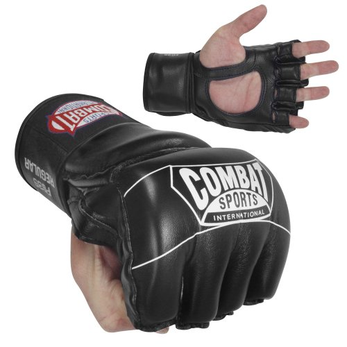 Combat Sports Pro Style Grappling MMA Gloves, Small, Black
