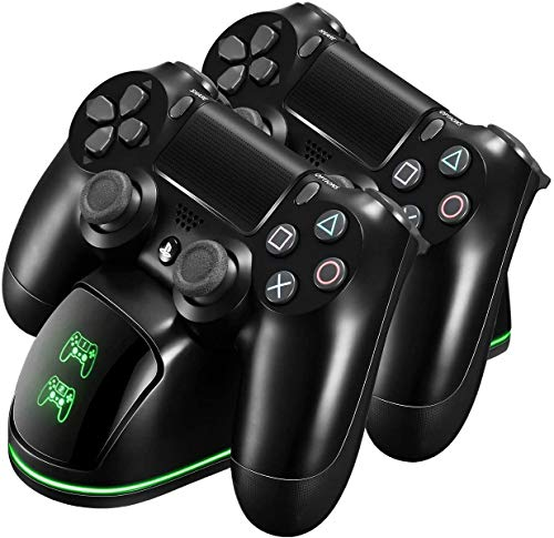 PICTEK PS4 Controller Charger, Controller Charger Station, Dual USB Fast Charging Dock with LED Indicator and Overcharging Protection, for Sony Playstation 4/PS4/PS4 Slim/PS4 Pro