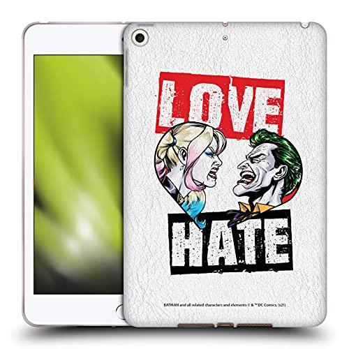 Head Case Designs sous Licence Officielle Batman DC Comics Amour Haine Joker Harley Quinn Graphiques Coque en Gel Doux Compatible avec Apple iPad Mini (2019)