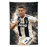 Cristiano Ronaldoクリスティアーノロナウドタペストリー壁掛け壁アートと寝室の家の装飾、リビングルームの寮の装飾100x150cmクリスマスと新年の贈り物