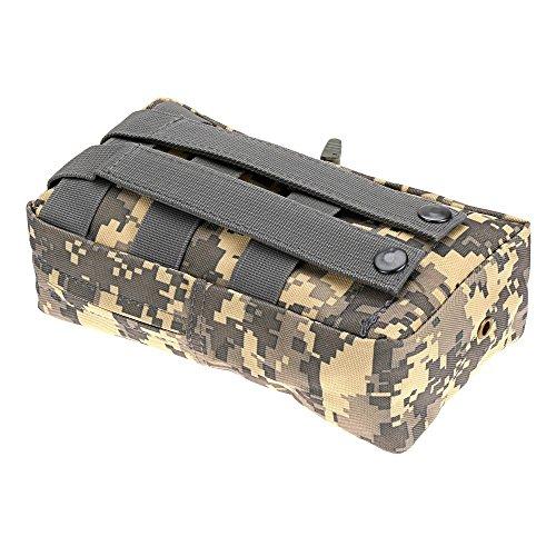Outtybrave Notfalltasche für den Außenbereich, für Erste-Hilfe-Tasche, Doppelreißverschluss, Medizin-Aufbewahrungstasche, ACU, 6inch