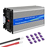 Osxcaues Pure Sine Wave 3000W Power Inverter 24V DC to 110V AC Car Converter with 1 USB Port and 2...