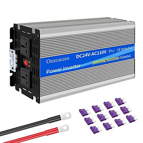 3000W Inversor de Onda Sinusoidal Pura DC 12V a AC 220V 230V Conversor con Toma de Corriente AC Puerto USB Ventilador de refrigeración para Barco Coche
