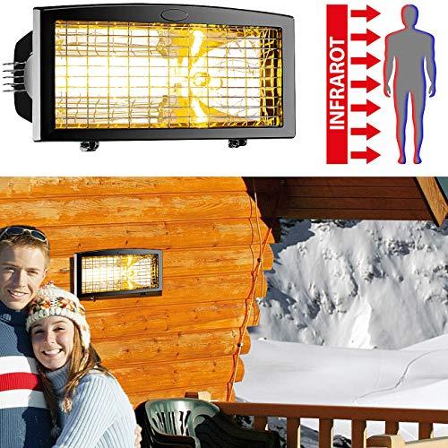 Semptec Urban Survival Technology Außenheizstrahler: Infrarot-Außen-Heizstrahler IRW-1500 mit Goldröhre, 1.500 Watt, IPX4 (Heizstrahler Balkon)