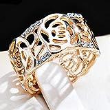 Acefeel(エスフィール)薔薇透かし彫りリングピンクゴールド K18レーディス指輪ローズ透かし 華美 上品 ファッション女性用 最高級 パーティー プレゼント16号