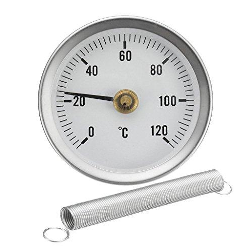 homyl Termómetro Tubo Oil Tank Thermometer montaje agua Cálido Blanco