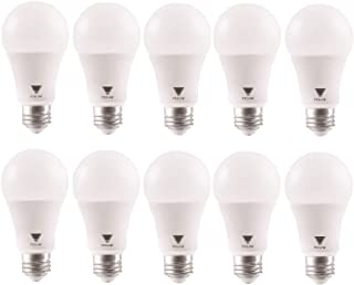 TriGlow T94447-10 (Pack of 10) 15-Watt (100W Equivalent) DIMMABLE A19 LED Bulb, 5000K (Daylight White Color), 1600 Lumens and E26 Base, UL Listed and Energy Certified