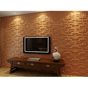 Contempo Living 3D-Rex 3D Wall Panel, 27-Square Feet, White