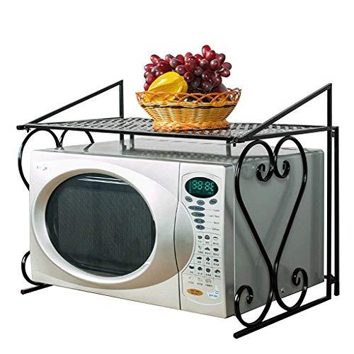 Multi-funzione 2 strati doppio ponte di ferro metallo forno a microonde scaffale stoccaggio rack side organizer da cucina armadietto, microonde scaffale stand, cucina di stoccaggio scaffale organizzat