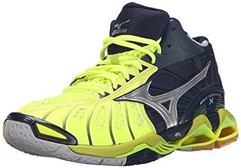 Mizuno Men s Wave Tornado x mid Volleyball Shoe Neon Yellow/Navy 9 D US