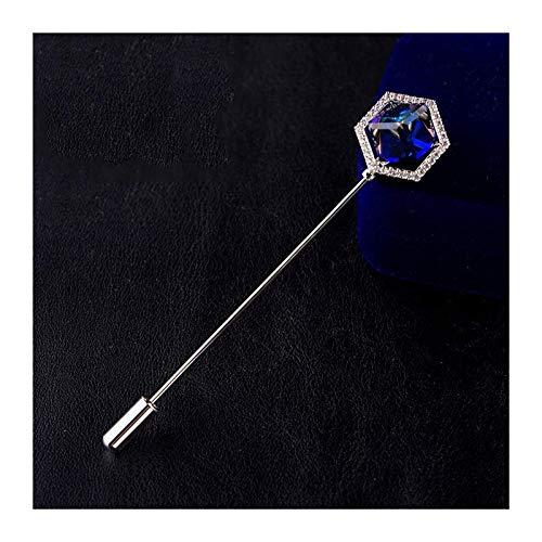 Crystal Broche Pasadores Accesorios Clip Accesorios Joyas Hombres de gama alta Broche Broches Para Camisas, Estilo Pin Ele-Word Pin Pin Bufanda Buckle Accesorio Western Crystal Broche (Color: a)