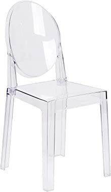 1INCHHOME Ghost Chair Dining Chairs Transparent Makeup Chair, Ghost Style Dining Side Chair, Modern Chair - Unstackable (1Pie