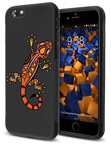 mumbi Hülle kompatibel mit iPhone SE 2 2020/7 / 8 Handy Case Handyhülle Double Grip mit Motiv Gecko, schwarz