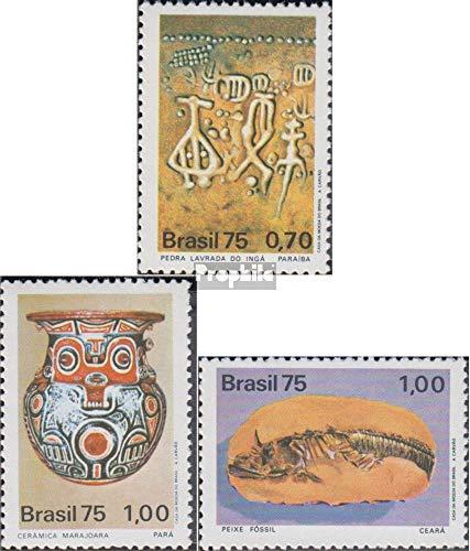 Prophila Collection Brasilien 1491-1493 (kompl.Ausg.) 1975 Archäologische Entdeckungen (Briefmarken für Sammler) Glas / Keramik / Porzellan