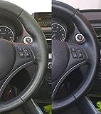 COLOURCARE24 Kit teinte noire pour volant de voiture en cuir ou simili cuir compatible avec cuir souple rénovation réparation surface décolorée réparation rapide et facile sans démonter le volant