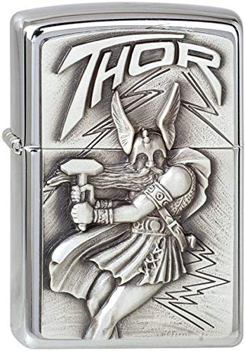 Zippo Zippo 1300098 Nr. 200 Viking Thor Emblem Chrome