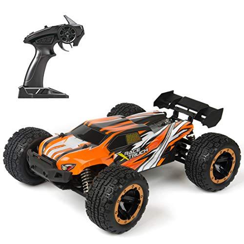 YYGE Coche teledirigido 2.4G RC 4WD 45KM/H Off-Road Buggy con faros LED, escala 1:16, sin escobillas, para adultos y niños