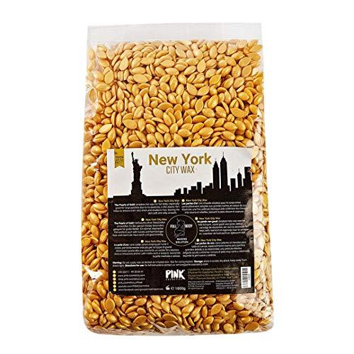 NEW YORK CITY WAX Premium Wachs zur Haarentfernung 1 kg - Sanftes Full Body Waxing ab 2 mm Haarlänge mit Wachsperlen in Profi-Qualität - Wax Beans - Pearl Wax - Wachsbohnen - Bikini Brazilian