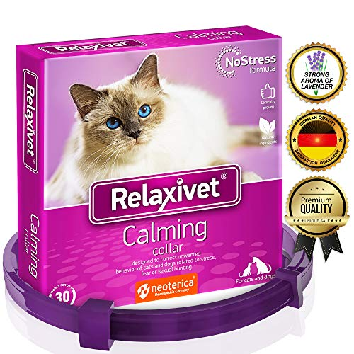 Relaxivet Calming Pheromone Collar for Cats and Small Dogs - Reduces Anxiety Your Pets - The Best Replacement for Calming Chews Treats Drops Plug in…