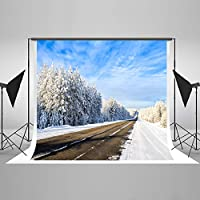 Kate 7x5ft(2.2mx1.5m) 冬の 風景 背景布 撮影用 写真撮影 自然な風景 無反射 可洗濯 無しわ 写真 壁紙