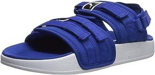PUMA Unisex Leadcat YLM Sport Sandal, surf The Web- White, 12 M US Little Kid
