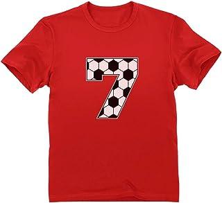 Tstars - 7歳誕生日サッカーシャツ キュート7歳誕生日サッカーシャツ 7歳バースデーサッカーシャツ 少年キッズ用T-シャツ