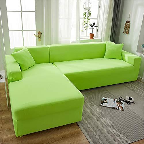 Surwin Funda de Sofá Elástica para Sofá de 1 2 3 4 plazas, Impresión Universal Cubierta de Sofá Cubre Moda Sofá Antideslizante Sofa Couch Cover Protector (Pasto Verde,2 plazas - 145-185cm)