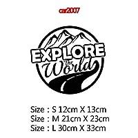 MIYU コンパスと山のアドベンチャーカーステッカーアートパターン装飾カーステッカーアクセサリーラップビニール接着剤ステッカーカーボディ (Color Name : Style7, Size : Size L)